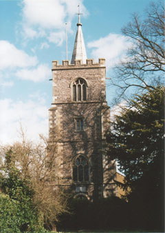 St Mary's Church tower from west