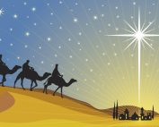 Epiphany - the Three Kings arrive at the stable