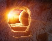 The empty tomb on Easter Day