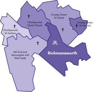 Map of the original Parish of Rickmansworth