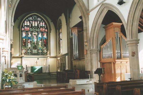 Interior of St Mary's Church, Rickmansworth