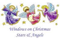 Windows on Christmas - Stars and Angels